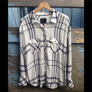 Rails long sleeve blouse.  White with navy